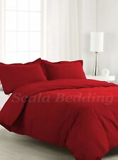 1000TC COMPLETE USA BEDDING SET SOLID BURGUNDY 100% COTTON CHOOSE SIZE AND ITEMS