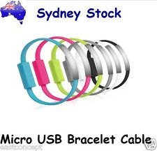 Short Bracelet Flat Micro USB Cable Data Charger for Samsung LG Sony HTC Galaxy