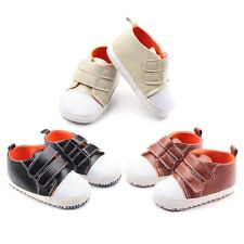 Newborn Baby Kids Boy Girl Soft Sole Prewalker Sneakers Toddler Crib Shoes 0-12M