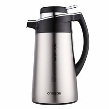 Stainless Steel Thermal Carafe Coffee Carafe Insulated Vacuum Flask Kettle 1.8L