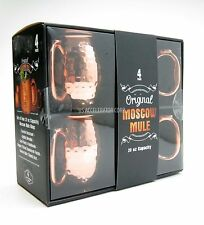 NEW ORIGINAL MOSCOW MULE MUGS Hammered Copper Drink Cups - 20oz