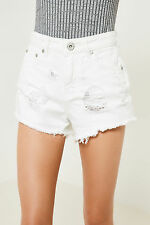 Brand Attic Distress White Denim Shorts