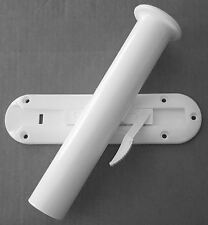 """Roll Control PVC 11"""" Track Bar w/ Fishing Pole Rod Holder fish slide out boat"""