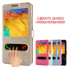 View Windows Synthetic PU Leather Cases Covers Skins For Samsung Galaxy Note 2/3