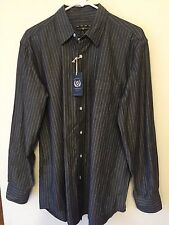 NWT Club Room Mens Long Sleeve Dress Shirt Dusty Black $49 Retail