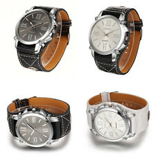 New Mens Retro Punk Rock Big Dial Wide Leather Band Bracelet Cuff Wrist Watches