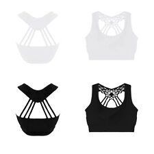 Womens Sexy Strappy Sleeveless Ladies Camisole Cotton Lace Tank Tops Black/White
