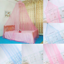 Elegant Lace Bed Mosquito Insect Fly Net Mesh Canopy Princess Round Dome Bedding