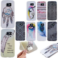 Soft TPU Patterned Phone Case for Samsung iPhone Protective Back Silicone Cover