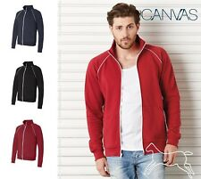 Bella + Canvas Full Zip Fleece Cadet Collar Jacket with Piping 3710 Up to 2XL