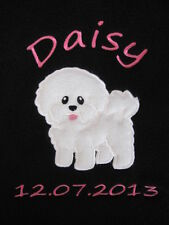 Personalised Dog / Puppy Blanket - Soft & Cosy Fleece - Bichon Frise ~ Fab Gift