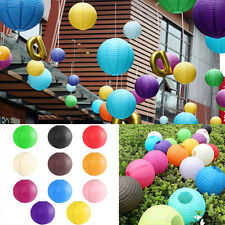 "10PCS 8"" 10"" 12"" Colorful Chinese Paper Lantern Wedding Lampshade Party Decor"