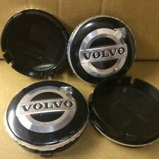 Set of 4 Volvo Black Silver New Alloy Wheel Center Hub Cap Emblem Badge 64mm UK
