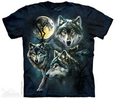 Moon Wolves Collage Mountain T-Shirt - Adult S - 5X & Child's S - XL
