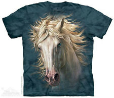 White Horse Portrait T-Shirt From The Mountain - Adult S - 5X