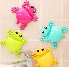 Lovely Toothbrush Rack Powerful Suction Cup Gecko Design Toothpaste Holder