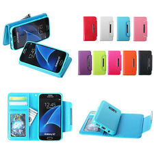 New Magnetic Detachable Leather Flip Card Wallet Case Cover For iPhone&Samsung