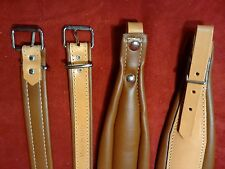 New Fuselli Italian Leather Accordion Straps Deluxe Tan Assorted Sizes
