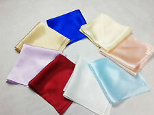New Pure Silk Pocket Square Handkerchief Soild Dyed Multicolor Party Wedding