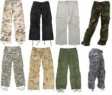 Women Vintage Paratrooper Tactical BDU Fatigue Pants