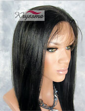 Best Lace Front Wigs Yaki Human Hair Silk Top Wig Glueless Brazilian Remy Hair