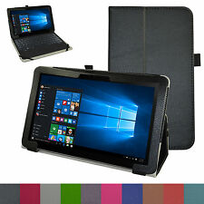 """Folio 2-Folding Leather Case+Pen for 12.5"""" ASUS Transformer Book T302CA Tablet"""
