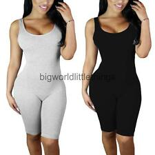 Women Fashion Sexy Bodysuit Sleeveless Backless Hollow Tight Rompers Jumpsuits