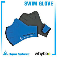 AQUA SPHERE NEOPRENE FITNESS SWIMMING GLOVES - SWIM TRAINING SWIM GLOVE - Blue