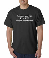 Resistance Is Not Futile Geek Funny Volts Current Star Trek Space T-Shirt S-5XL