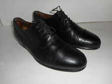 COLE HAAN Bragano Cap Toe Oxfords Black Leather 10.5D Italy!