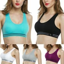 Stretch Bra Crop Top Yoga Sport Running Fitness Vest Tank Tops Padded Bras Shape