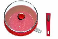 Flavorstone Deep Pan 28cm w/Lid Red Blue Grey | Direct From Danoz -Full Warranty