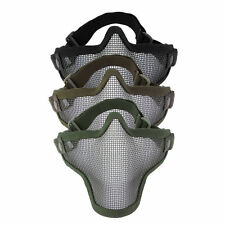 Steel Mesh Half Face Mask Guard Protect For Paintball Airsoft Game Hunting SY