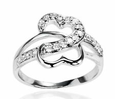 925 Sterling Silver Soulmate Heart Ring with Cubic Zirconia  Free Local Postage