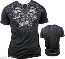 "AFFLICTION ""SHREDDED"" Skull Chains Mens LARGE T Shirt NEW UFC MMA Tee"