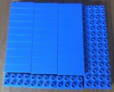 40 x LEGO DULPO Bricks 4 X 2 Studs Blue Part No 3011