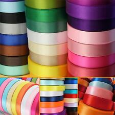 23 Metres DOUBLE SIDED SATIN RIBBON Reels 15mm width - 6mm,10mm & 25mm available