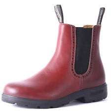 Blundstone Womens Pull On Leather Ankle Boots Chelsea Burgundy Wine New Shoes