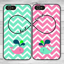 2PCS Cute BFF Best Friends Forever Case Cover for iPhone 7 8 6S 6 Plus 5S 5C X