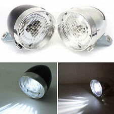 Retro 3LED Bicycle Bike MTB Headlight Vintage Front Fog Light Head Lamp&Bracket