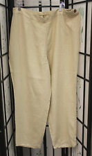 NWT FLAX Long Slims pant in Vanilla linen size 1G or 2G