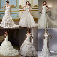 New White/ivory Wedding Dress Bridal Gown Custom Size6+8+10+12+14+16+18+20++