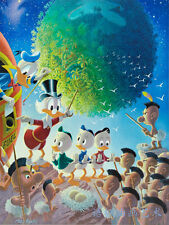 Oil Painting HD Print Wall Decor Art on Canvas,Donald Duck-67 (Unframed) 1PCS