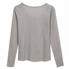 Neck Women Knitting Top Sweater Long Button V Ladies Stylish Sleeve Slim Casual