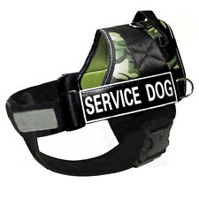 Reflective Service Dog Harness Vest Removable Chest Plate & FREE Velcro Patches