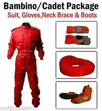 Red Kart CIK Level 2 SUIT BOOTS GLOVES Package BAMBINO / CADET / JUNIOR