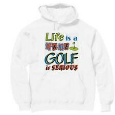 Pullover Hooded Sports Sweatshirt Life Is A Game Golf Serious Golfer Golfing