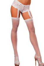 Fashion sexy new woman ladies 1pc White Lace Garter Short Sheer Stockings sock