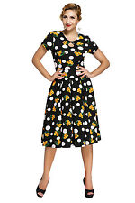 new fashion sexy colorful summer Dot Floral Print Keyhole Vintage Swing Dress