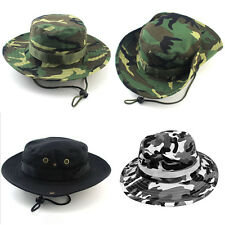 Men's Bucket Hunting Boonie Cap Outdoor Camo Fishing Military Wide Brim Sun Hats